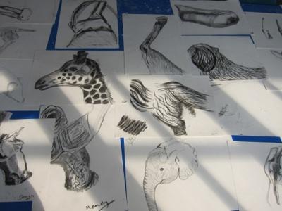 Drawings by members of teaching staff