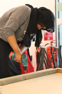 Student working, Peckham Platform