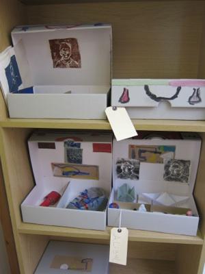 Shelf with precious suitcases