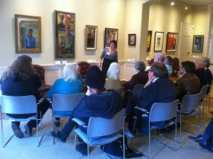 Discussing artwork in the historic house, Art Views Sessions, Pallant House